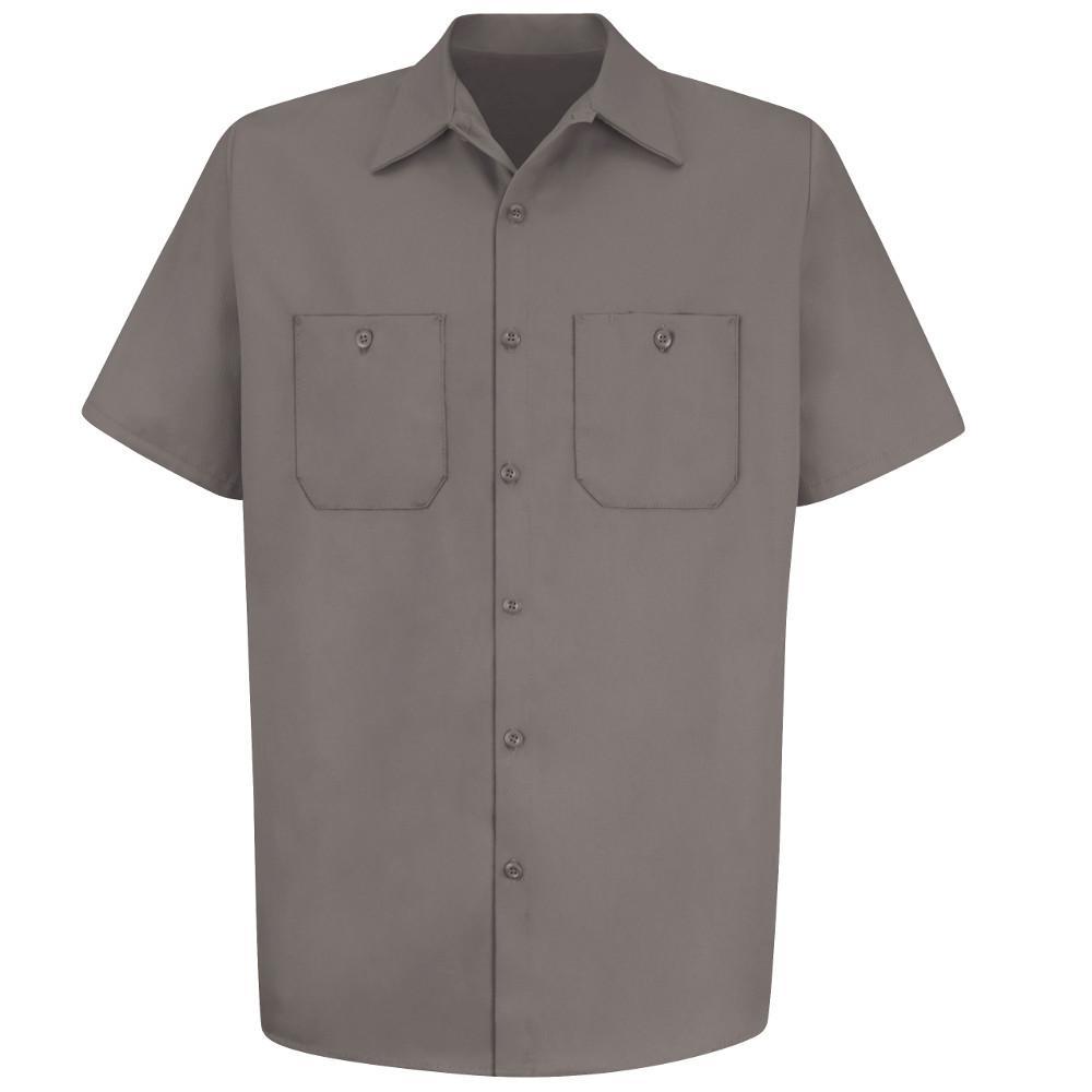 Red Kap Men s Size 2XL Graphite Grey Wrinkle-Resistant Cotton Work ... 4940cc54af0