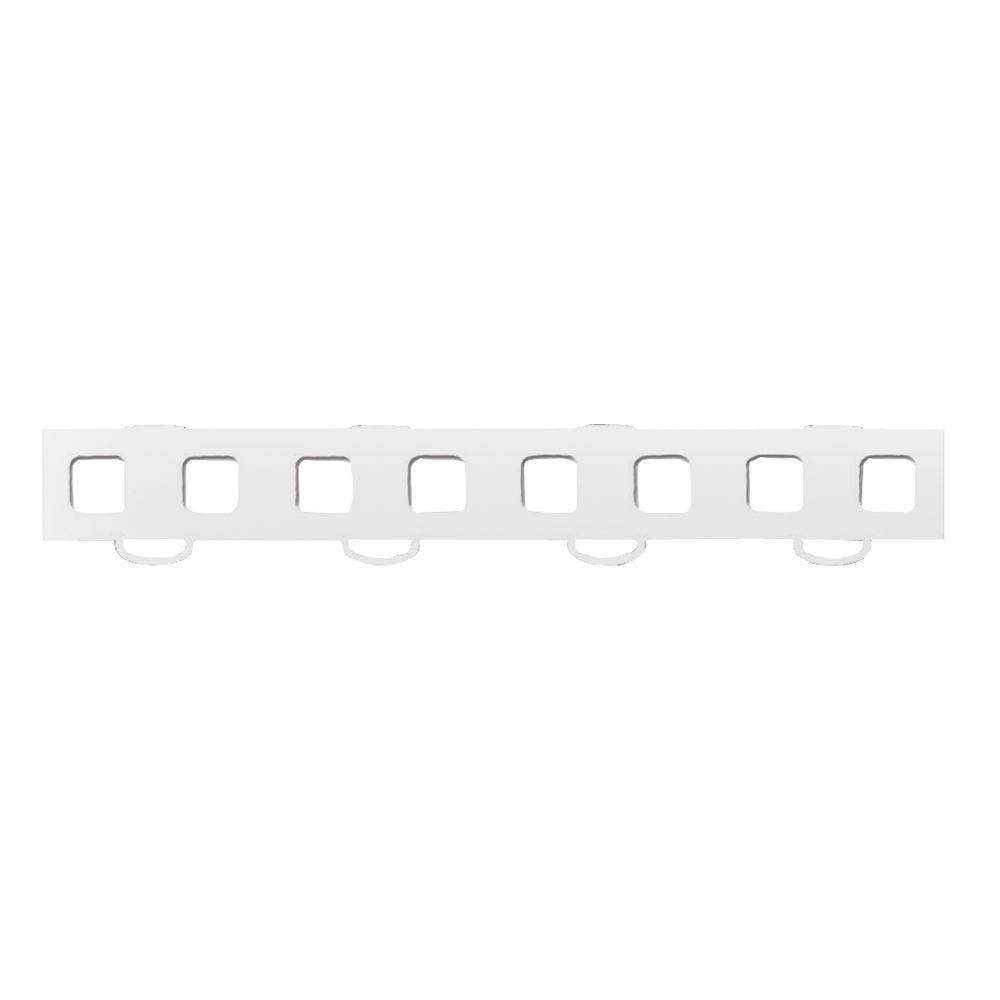 WeatherTech TechFloor 1-1/2 in. x 12 in. White Vinyl Flooring Tiles (Quantity of 10)