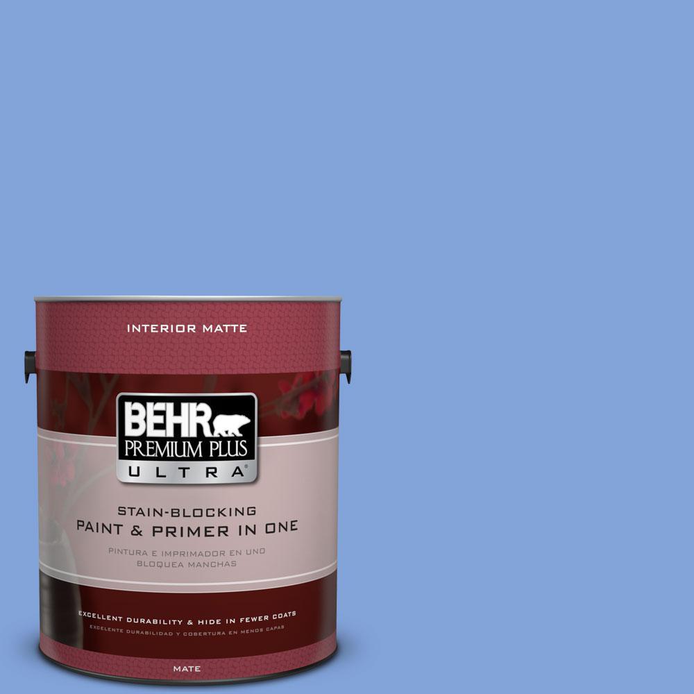 1 gal. #P530-4 Periwinkle Matte Interior Paint