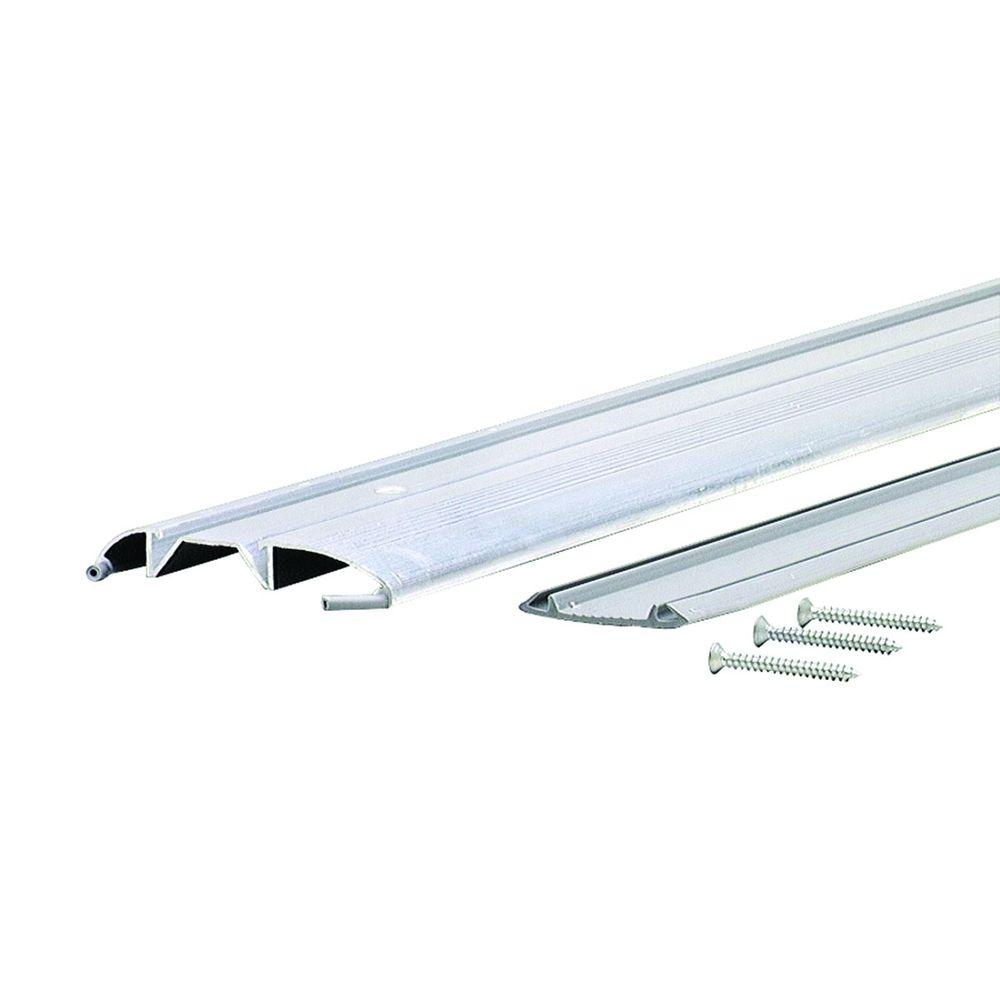M-D Building Products Standard Duty Low 3-3/8 in. x 57-1/2 in. Aluminum Threshold with Vinyl Seal