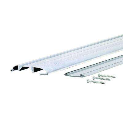 Standard Duty Low 3-3/8 in. x 72 in. Aluminum Threshold with Vinyl Seal