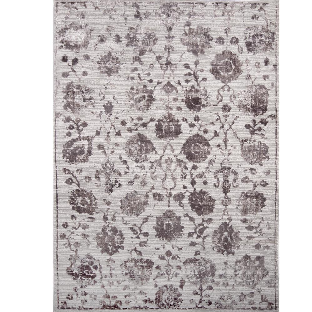 Nicole Miller Kenmare Gray Purple 3 Ft X 4 Indoor Area Rug