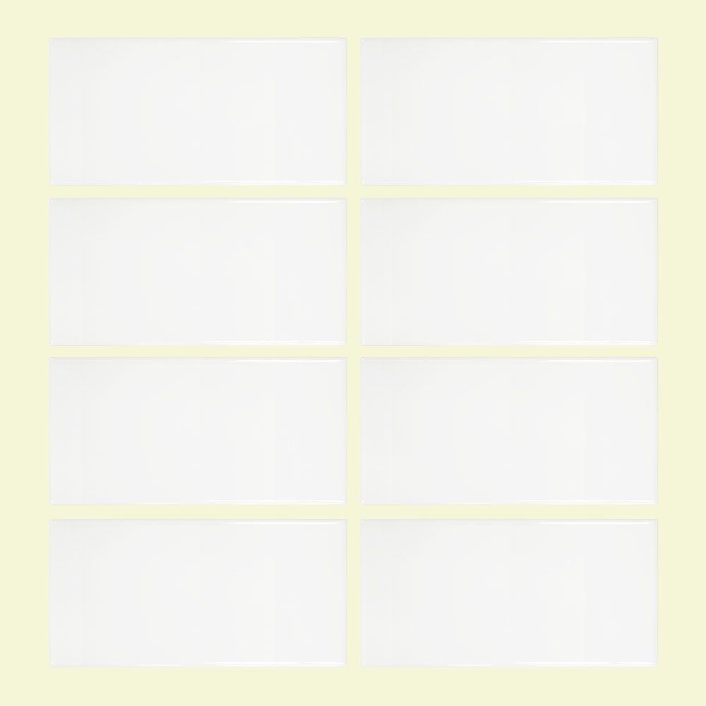 Jeffrey Court Allegro White 3 in. x 6 in. Ceramic Wall Tile (8-pieces / pack)