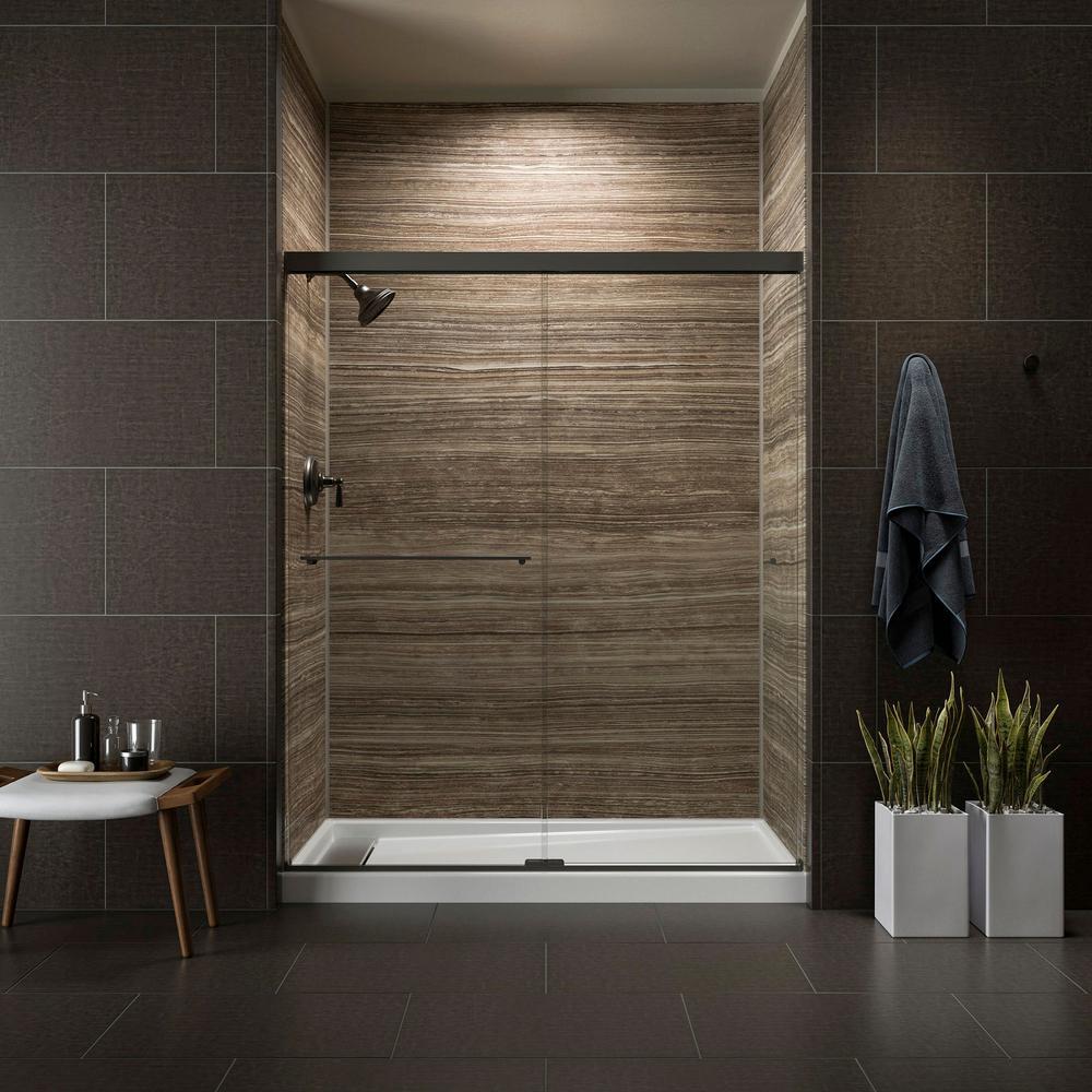 KOHLER Revel 59-5/8 in. W x 70 in. H Frameless Sliding Shower Door ...