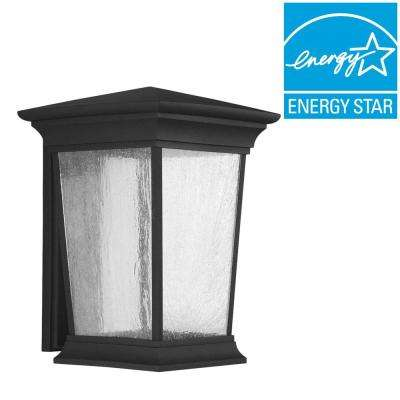 Arrive Collection 1-Light Outdoor 11 Inch Black LED Wall Lantern