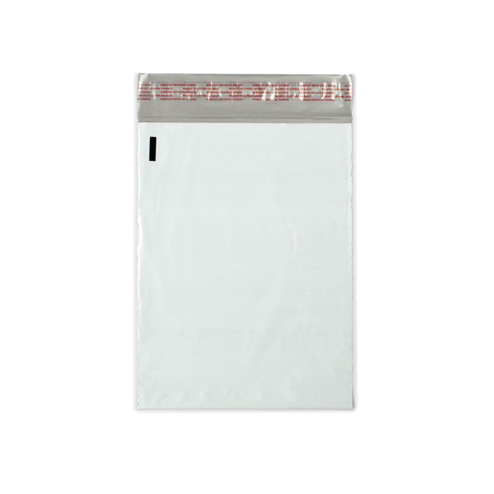 PrattRetailSpecialties Pratt Retail Specialties 9 in. x 12 in. White / Silver Flat Poly Mailers Envelope with Adhesive Easy Close Strip (100-Case)