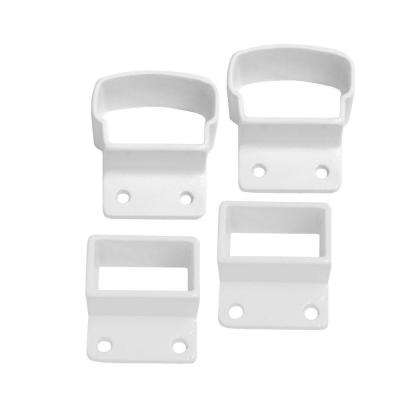 2.75 in. White Top and Bottom Post Mount Kit