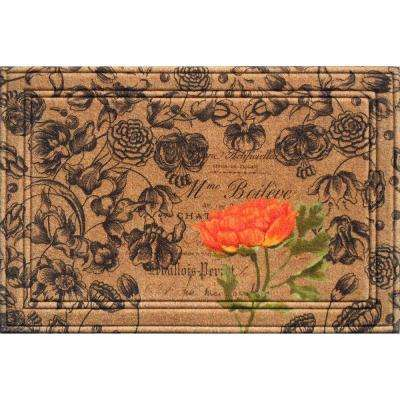 Naturelles Floral 24 in. x 36 in. Door Mat