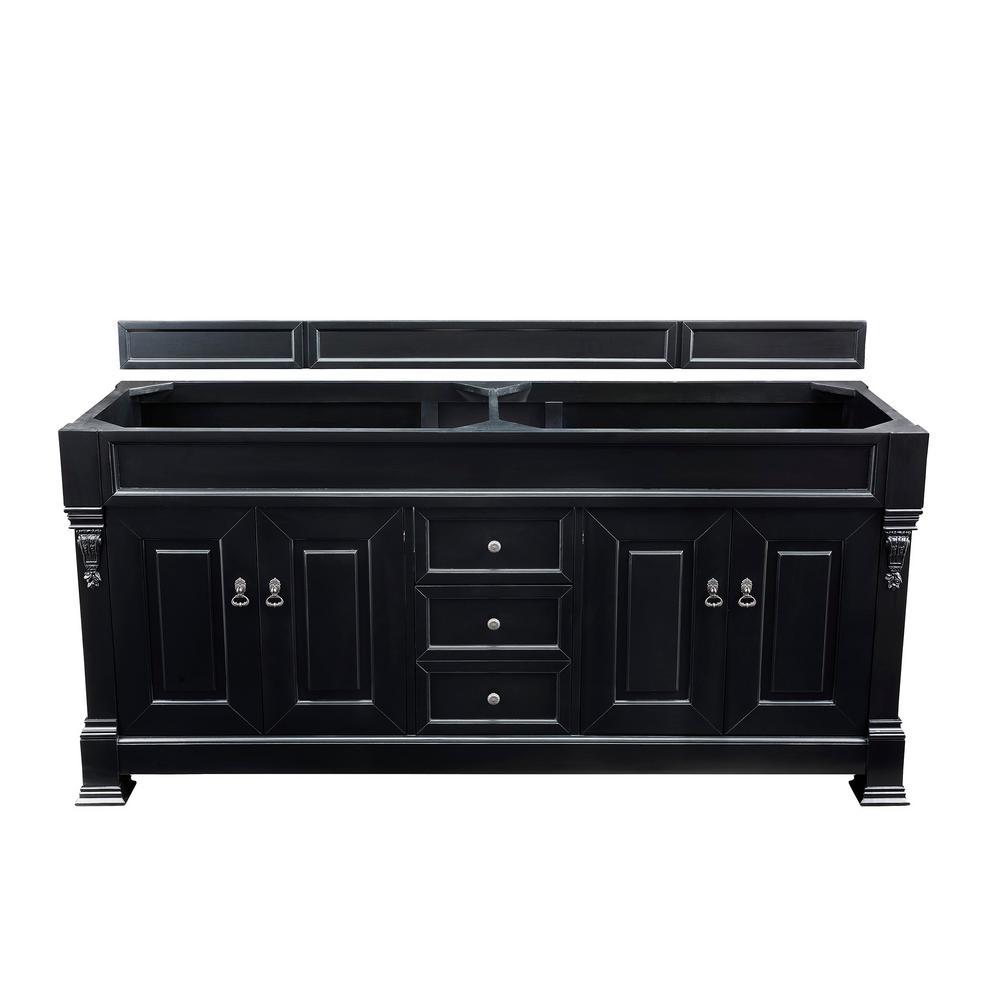 Brookfield 72 in. W Bathroom Vanity Cabinet Only in Antique Black