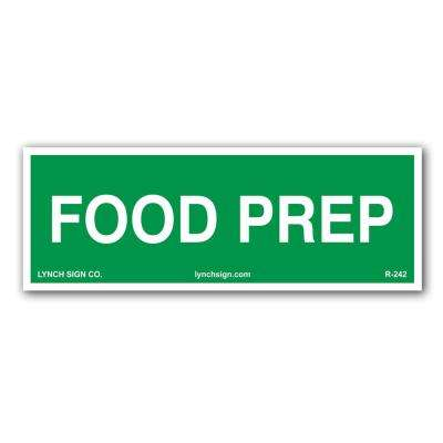 9 in. x 3 in. Food Prep, Food Safety Decal