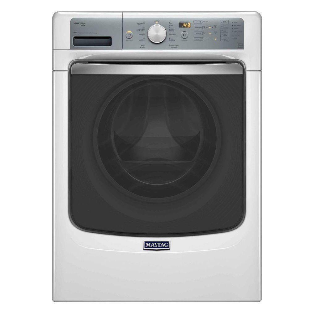 Maytag Maxima 4.5 cu. ft. High-Efficiency Front Load Washer with Steam in White, ENERGY STAR