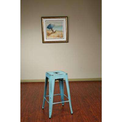 Bristow 26.25 in. Antique Sky Blue Bar Stool (Set of 4)