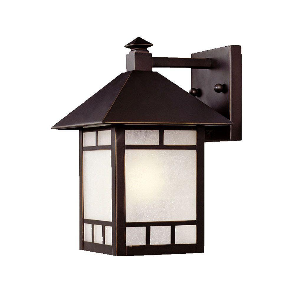 Acclaim Lighting Artisan Collection 1 Light Architectural Bronze Outdoor  Wall Mount Fixture 9012ABZ   The Home Depot