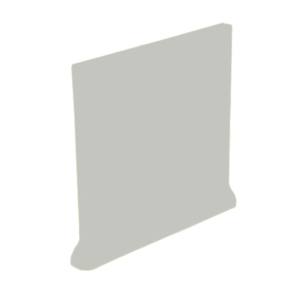 U.S. Ceramic Tile Color Collection Matte Taupe 4-1/4 in. x 4-1/4 in. Ceramic Stackable Right Cove Base Wall Tile-DISCONTINUED