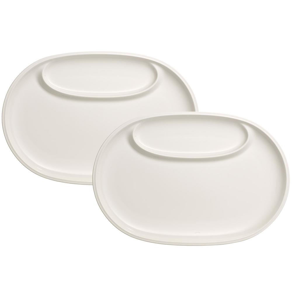 Villeroy u0026 Boch BBQ Passion White Fish Plates (Set of ...  sc 1 st  The Home Depot & Villeroy u0026 Boch BBQ Passion White Fish Plates (Set of 2)-1041897528 ...