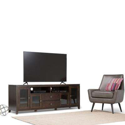 Cosmopolitan Coffee Brown 72 in. Wide TV Media Stand
