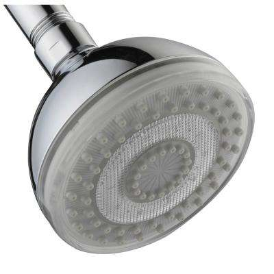 LED 7-Color 1-Spray 3.5 in. Showerhead in Polished Chrome