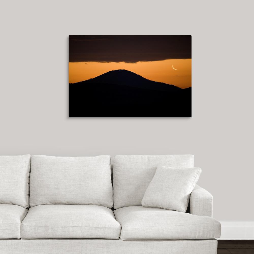 GreatBigCanvas 36 in. x 24 in. ''African Moonrise'' by Scott Stulberg