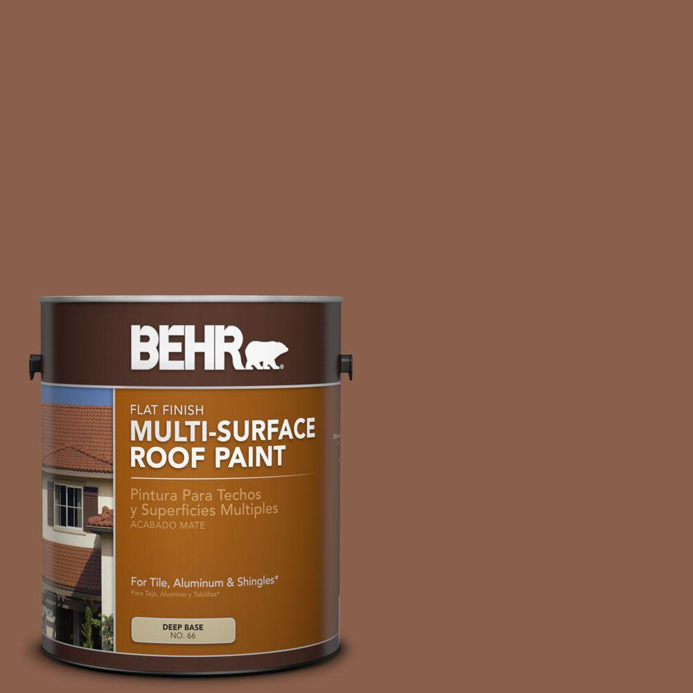 1 gal. #RP-18 Russet Brick Flat Multi-Surface Roof Paint