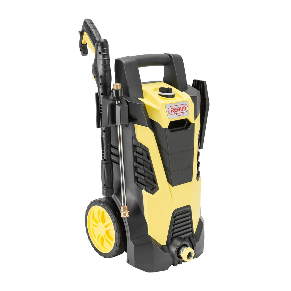 BY02-BCMT, Electric Pressure Washer, 2100 PSI, 1.75 GPM, 14.5 Amp, Yellow