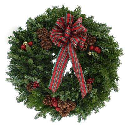 20 in. Balsam Fir Highland Fresh Wreath : Multiple Ship Weeks Available