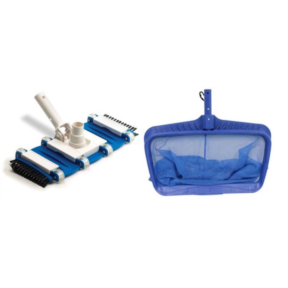 Hydrotools Deep Bag Leaf Rake Swimming Pool Net Plus Flexible Vacuum Head