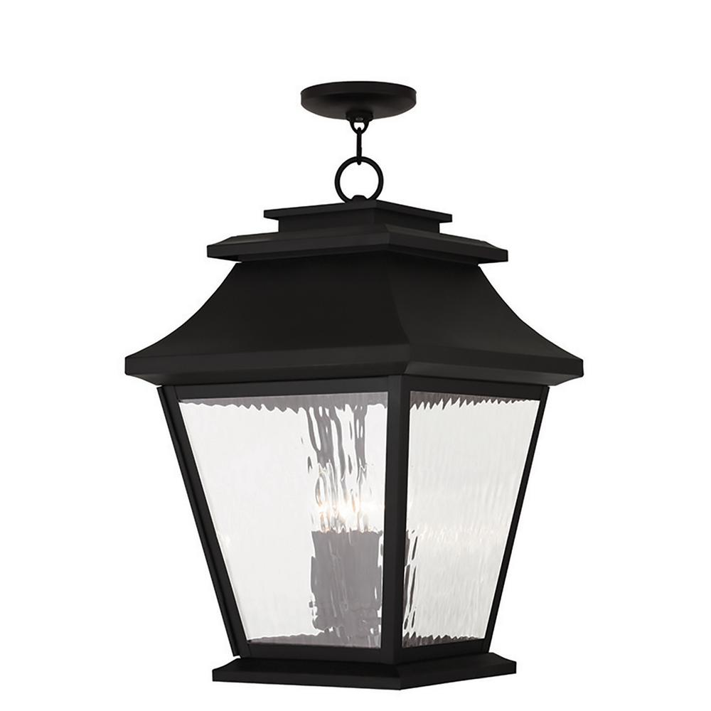 Hathaway Black 4-Light Outdoor Hanging Lantern