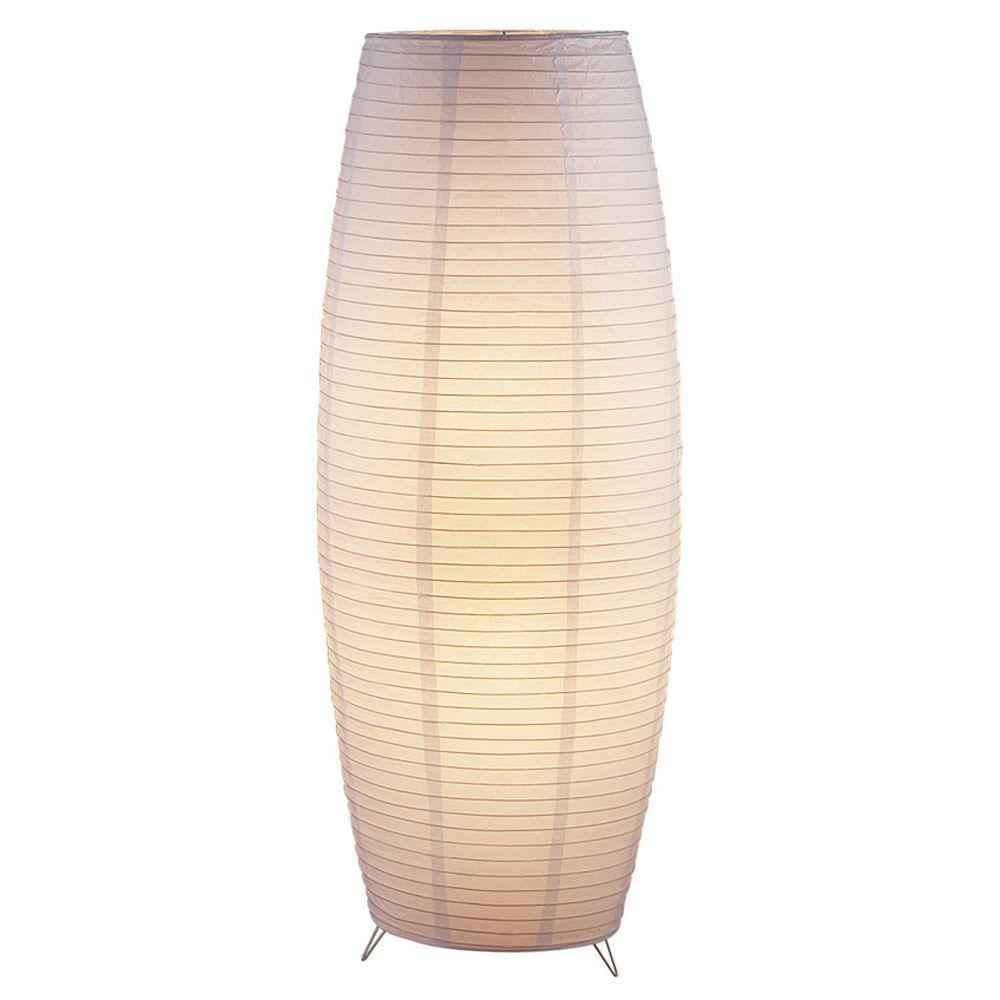 Adesso Suki 51 In White Floor Lantern With Rice Paper Shade