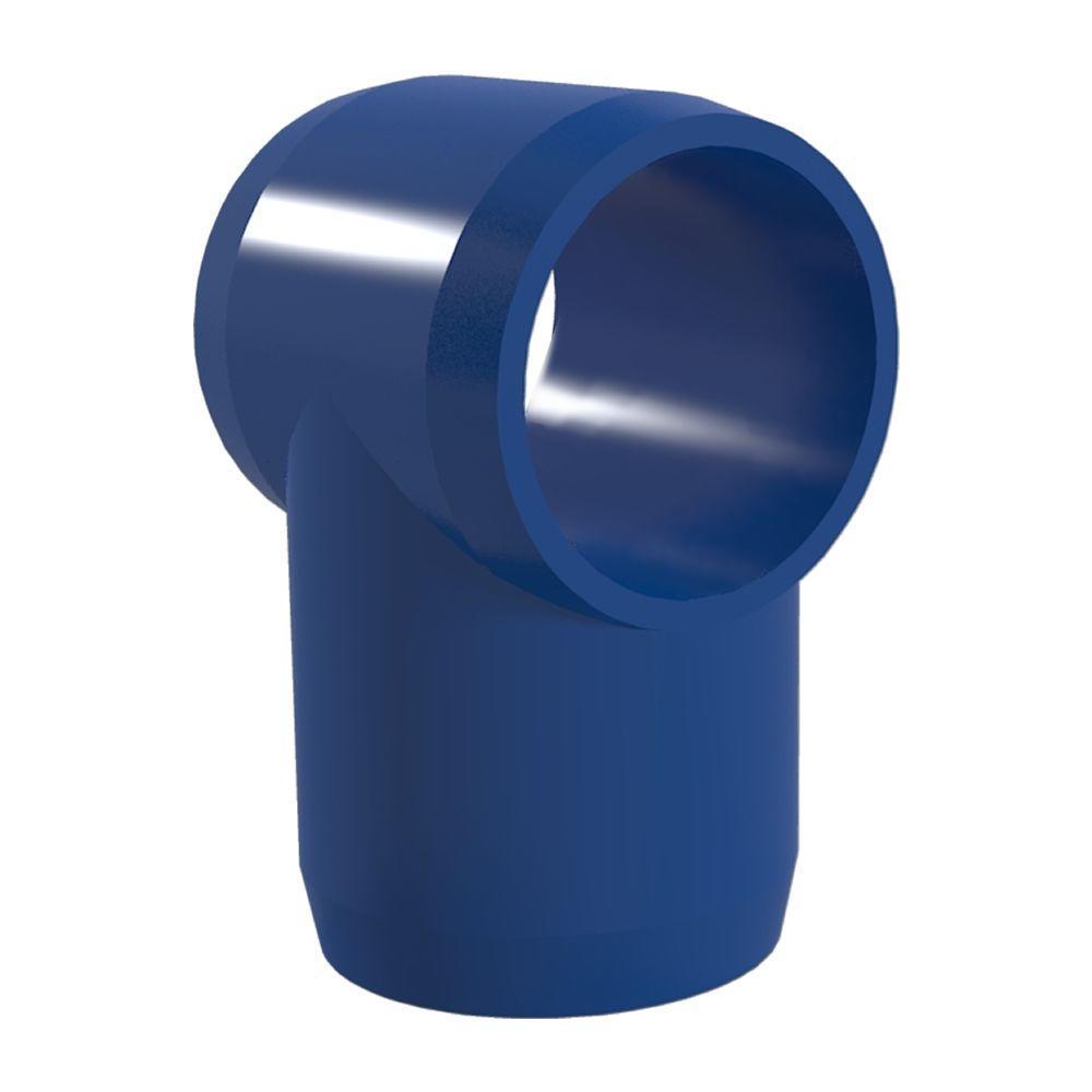 1 in. Furniture Grade PVC Slip Sling Tee in Blue (4-Pack)