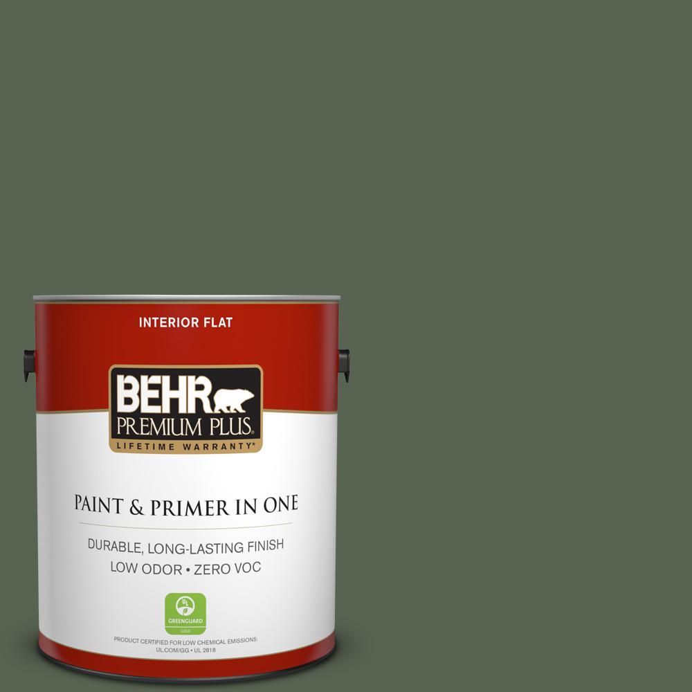 BEHR Premium Plus 1-gal. #N390-7 Cypress Vine Flat Interior Paint