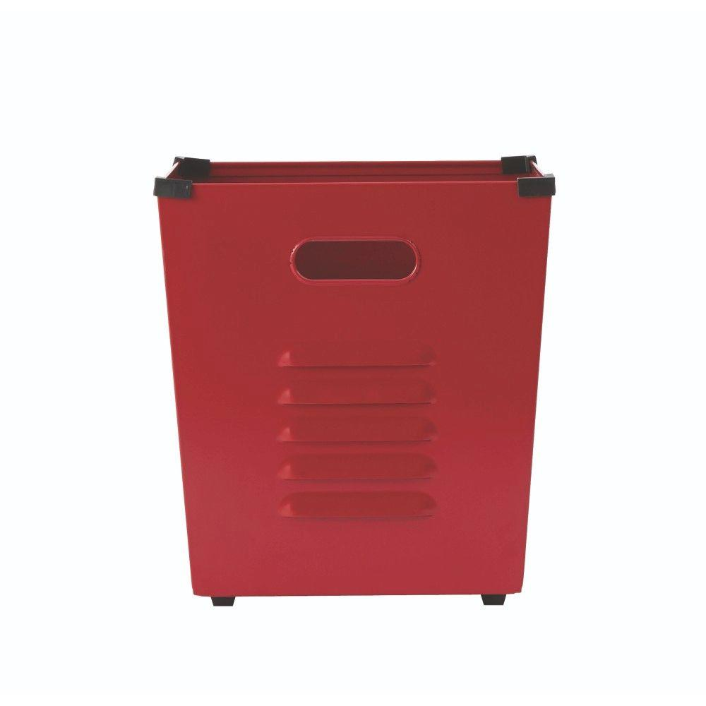 Home Decorators Collection Lachlan Red Metal Storage Bin (Set Of 3)