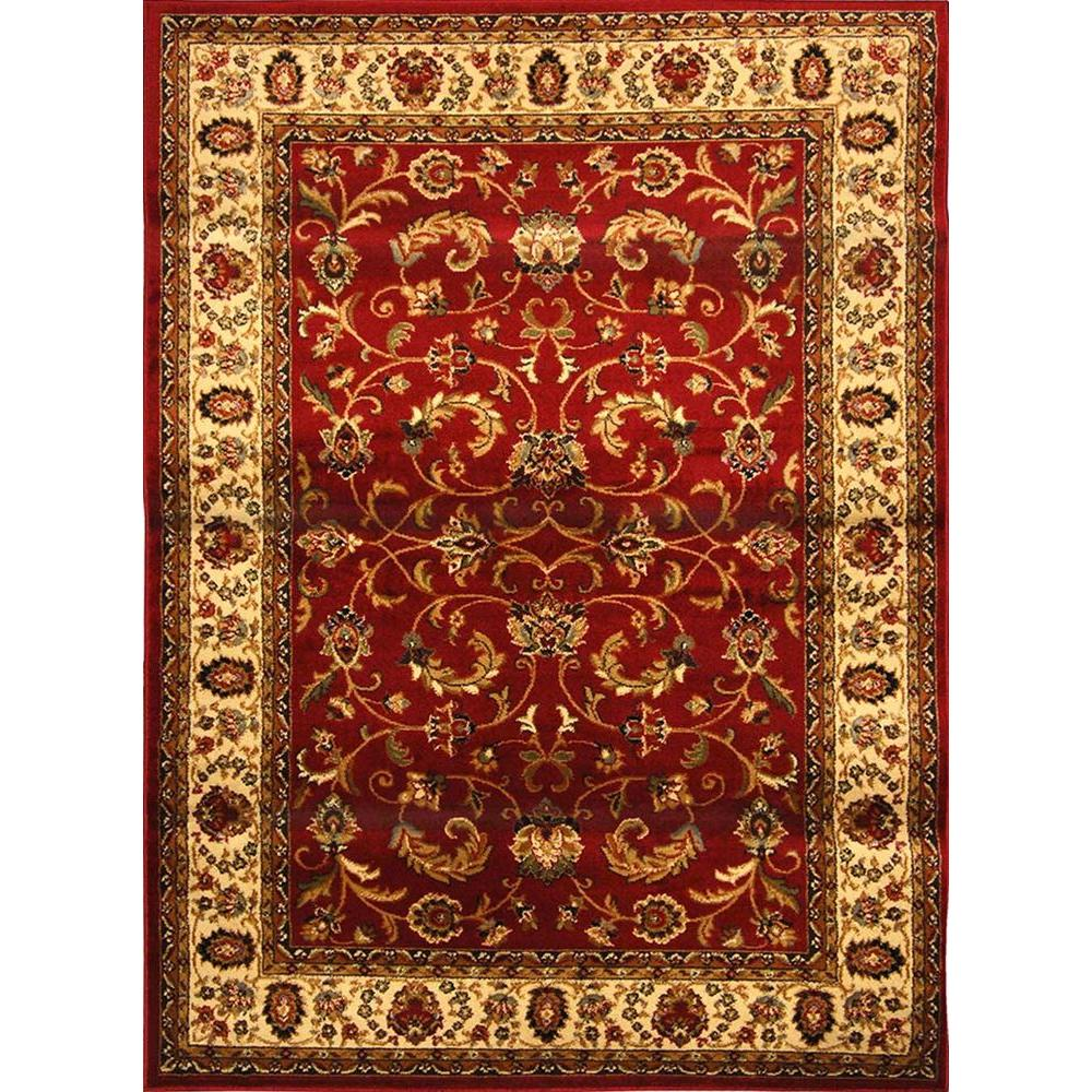 Home Dynamix Royalty Red Ivory 1 Ft 9 In X 7 2 Indoor Area Rug 4 3208 215 The Depot