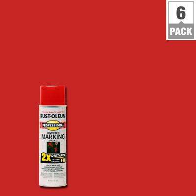 15 oz. Safety Red 2X Distance Inverted Marking Spray Paint (6-Pack)