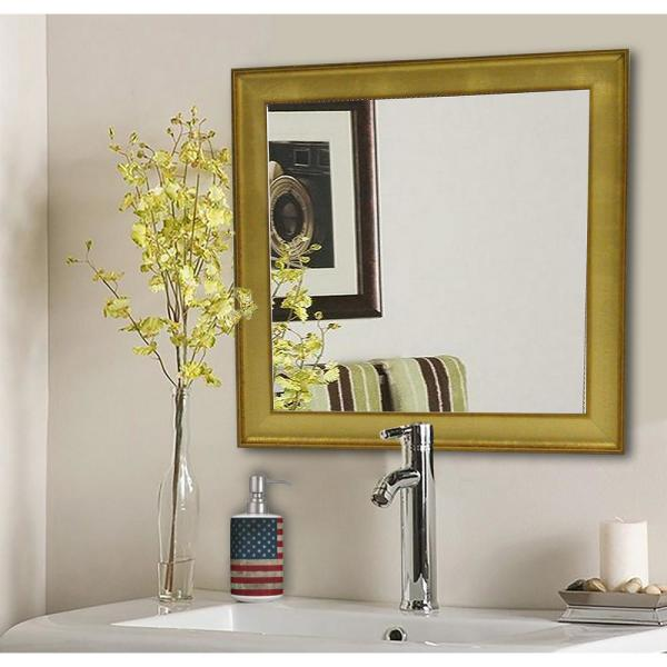 15 5 In X 15 5 In Vintage Gold Square Vanity Wall Mirror S057s