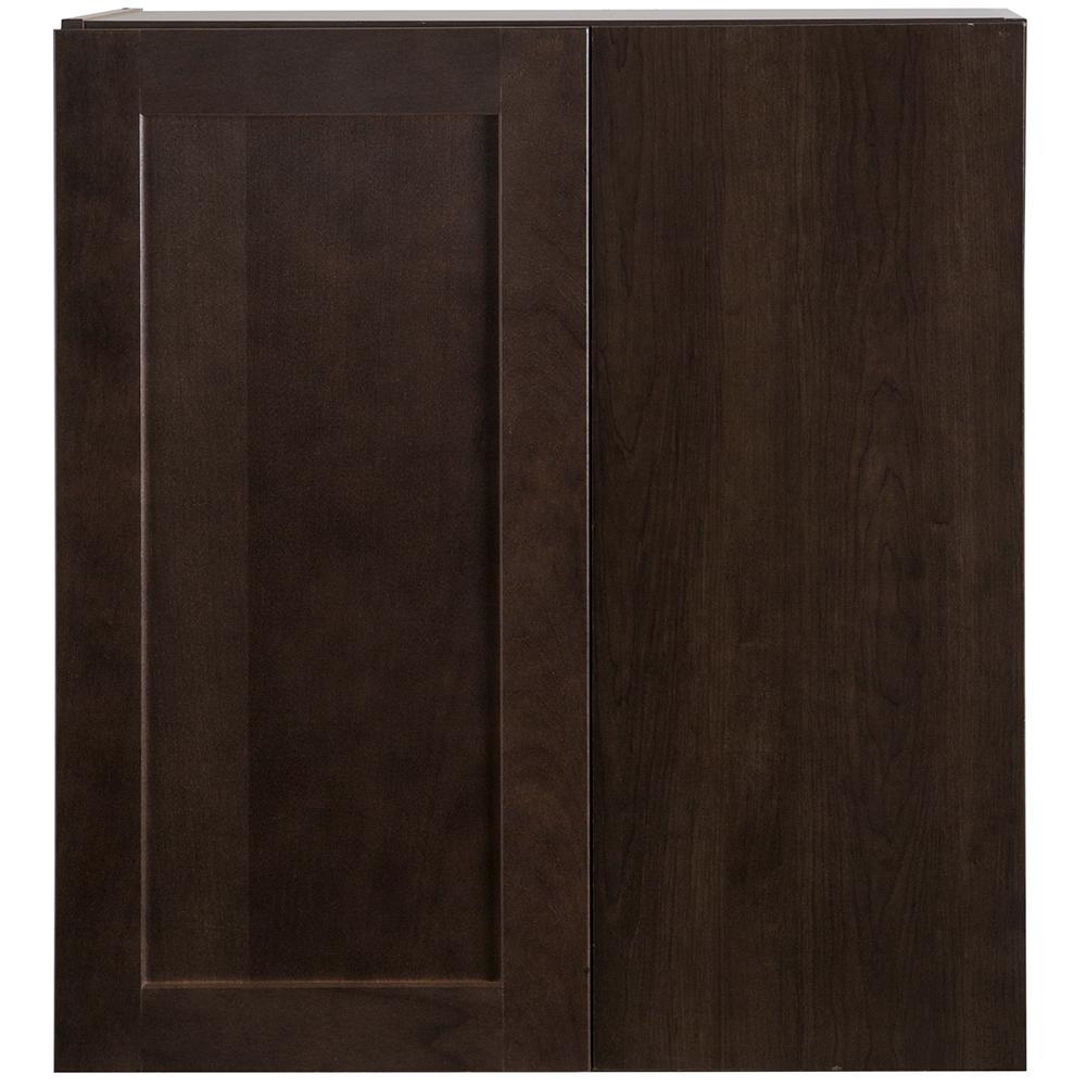 Cambridge Assembled 27x12.5x30 in. Blind Wall Corner Cabinet in Dusk