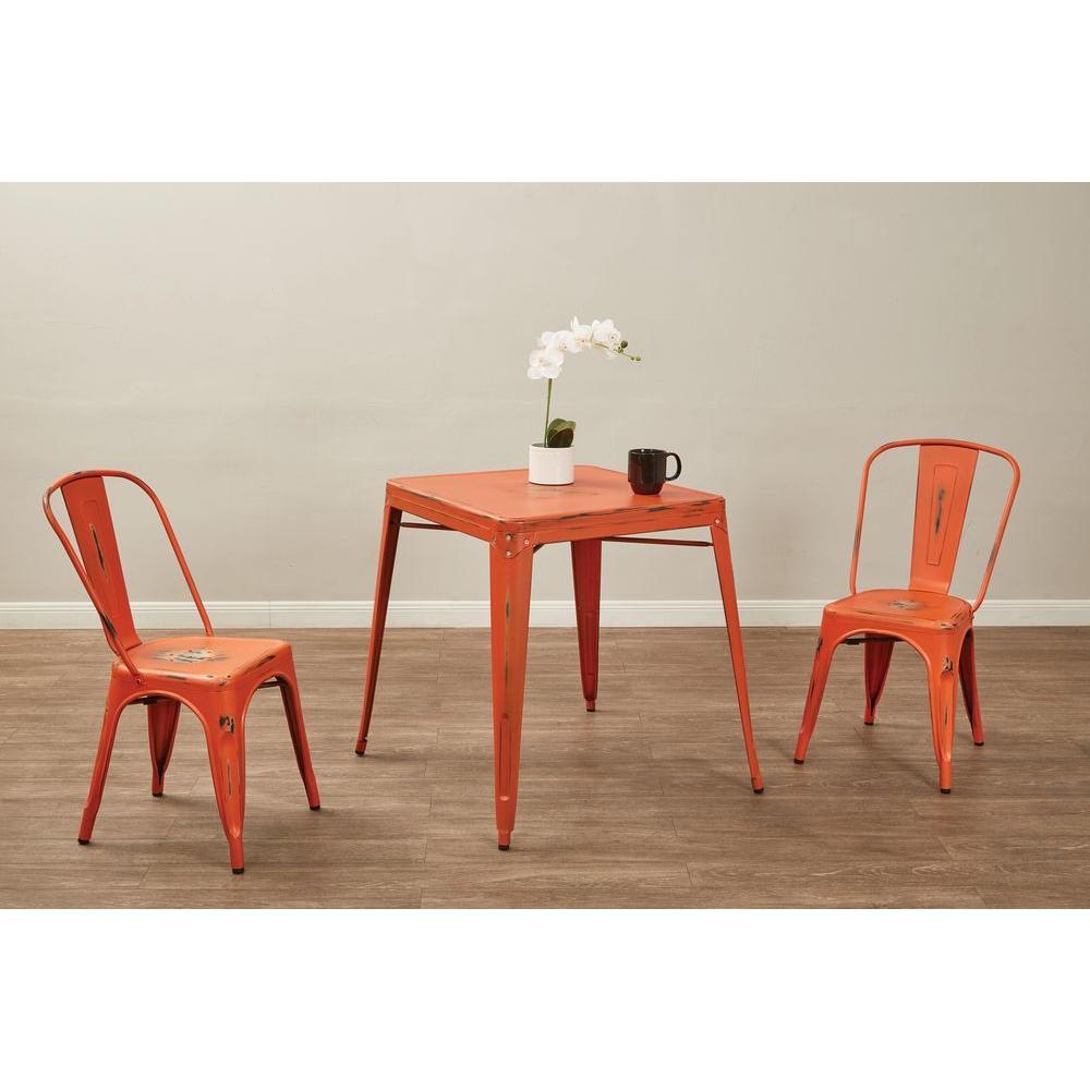 Bristow Antique Orange Metal Side Chair (Set of 2)