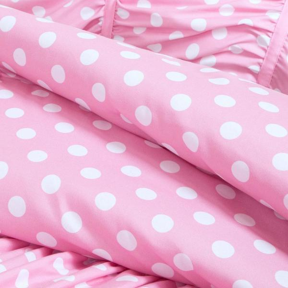 Mi Zone Penelope 3 Piece Pink Twin, Pink Polka Dot Bedding