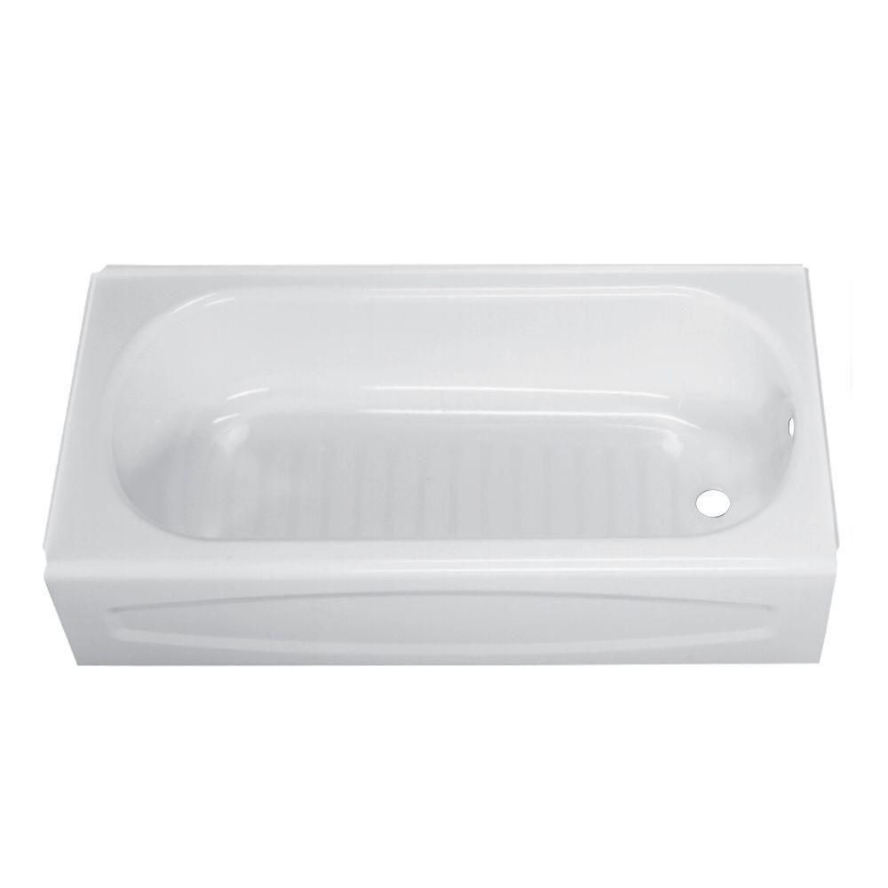American Standard New Solar 5 ft. Right Drain Soaking Bathtub in ...