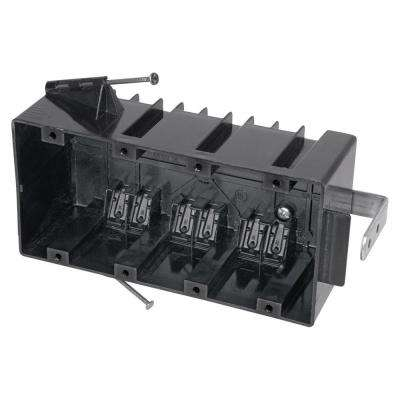 4-Gang 60 cu. in. New Work Nail-On Electrical Outlet Box (Case of 10)