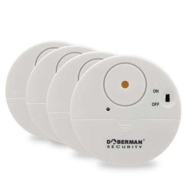 Ultra-Slim Window Alert Wireless Sensor Alarm in White (4-Pack)
