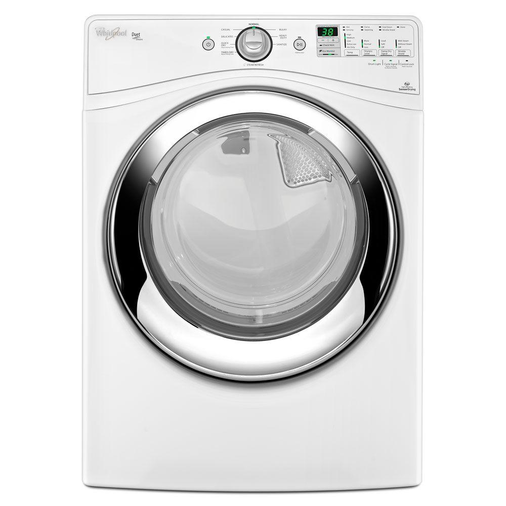 Whirlpool Duet 7.4 cu. ft. Gas Dryer with Steam in White
