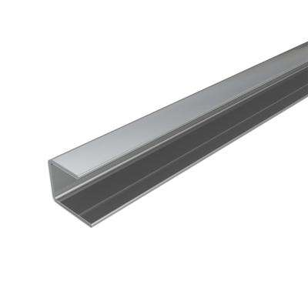 4 ft. Silver Aluminum Edge Profile (2-Pieces)