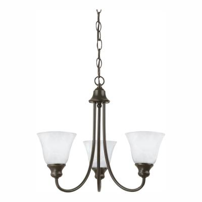 Windgate 3-Light Heirloom Bronze Chandelier with LED Bulbs