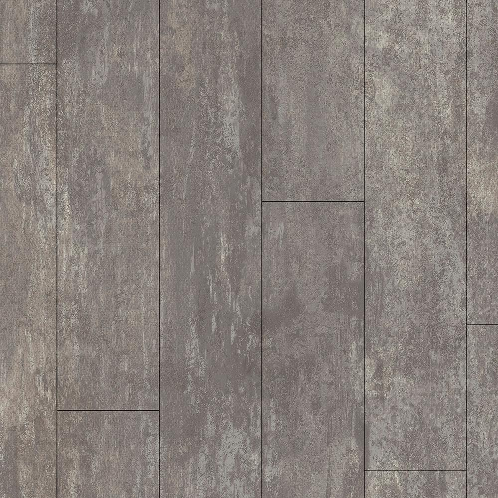Armstrong Take Home Sample Stone Grey Residential Vinyl Sheet Flooring 6 In X