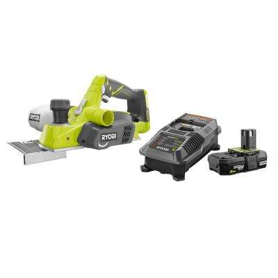 18-Volt ONE+ Cordless 3-1/4 in. Planer with Lithium-Ion 2.0 Ah Battery, Dual Chemistry IntelliPort Charger