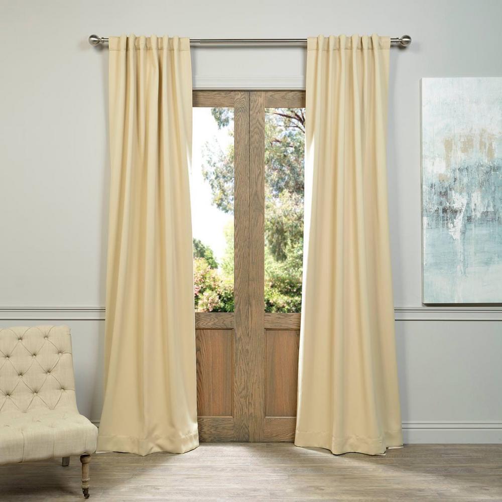 Semi-Opaque Biscotti Beige Blackout Curtain - 50 in. W x 120 in. L (Pair)