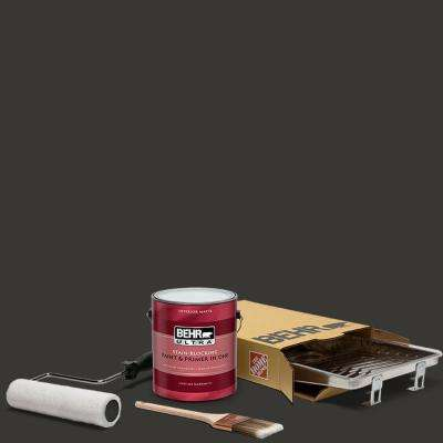 1 gal. Black Ultra Matte Interior Paint and 5-Piece Wooster Set All-in-One Project Kit