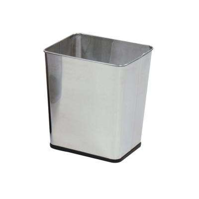 7.25 Gal. Stainless Steel Rectangular Trash Can