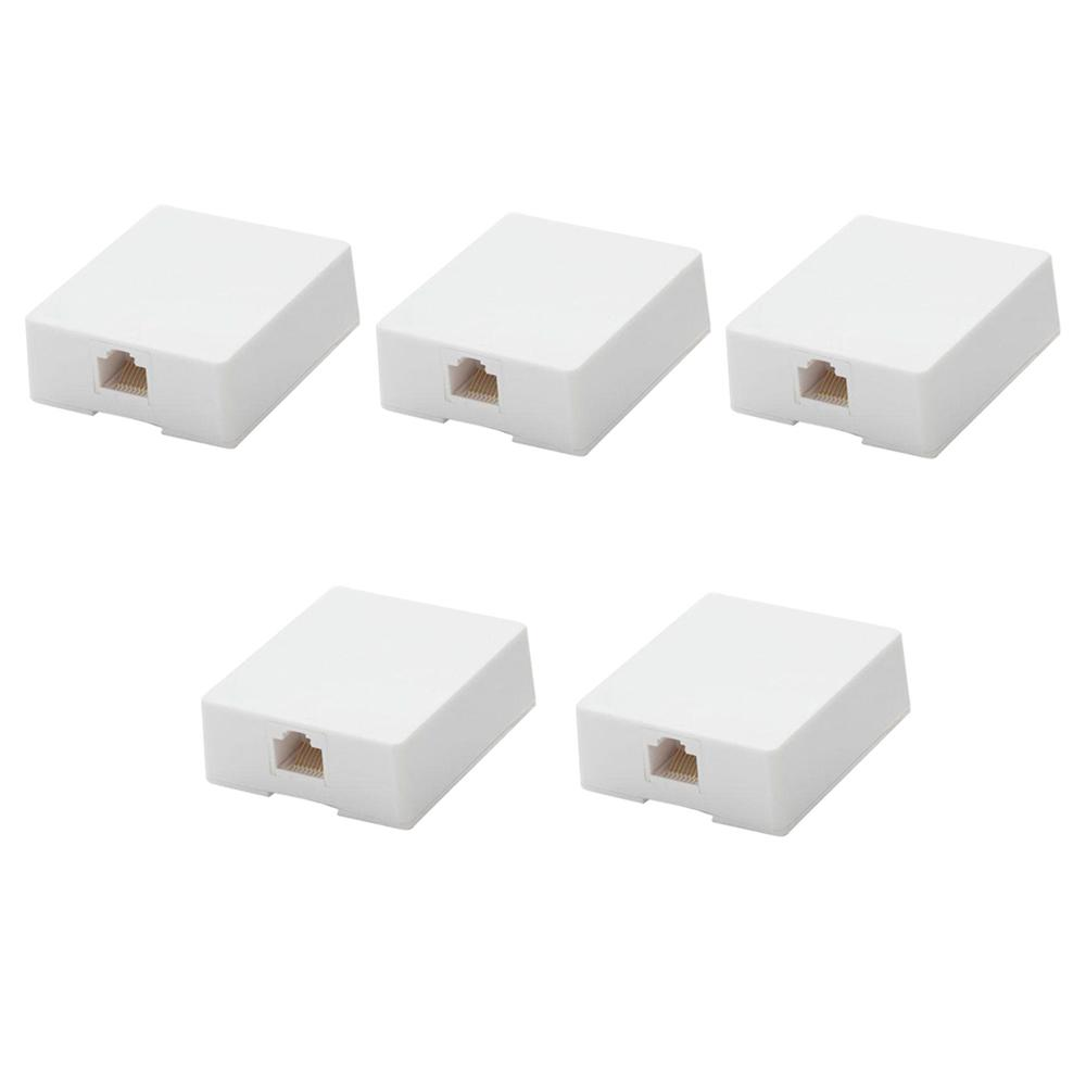 Commercial Electric Voice Grade Jack White 5023 Wh The Home Depot Wiring Surface Mount Ethernet In 5 Pack