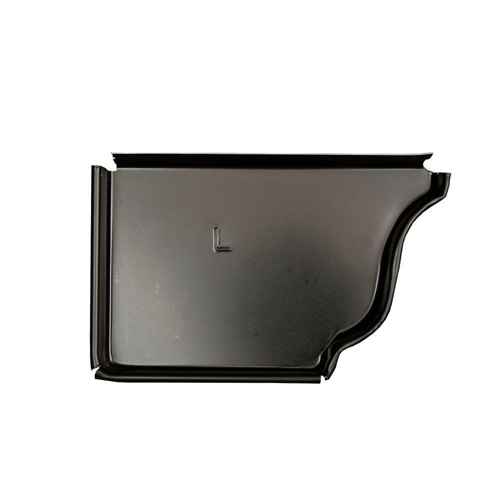 6 in. Black Aluminum Left End Cap